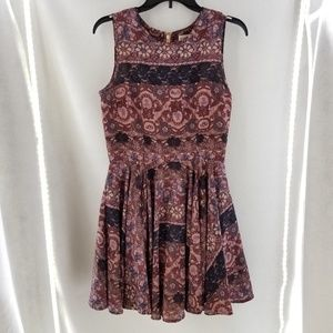 MAISON JULES Pink Floral Sleeveless Dress Sz M